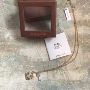 Coach Heart and Key Necklace